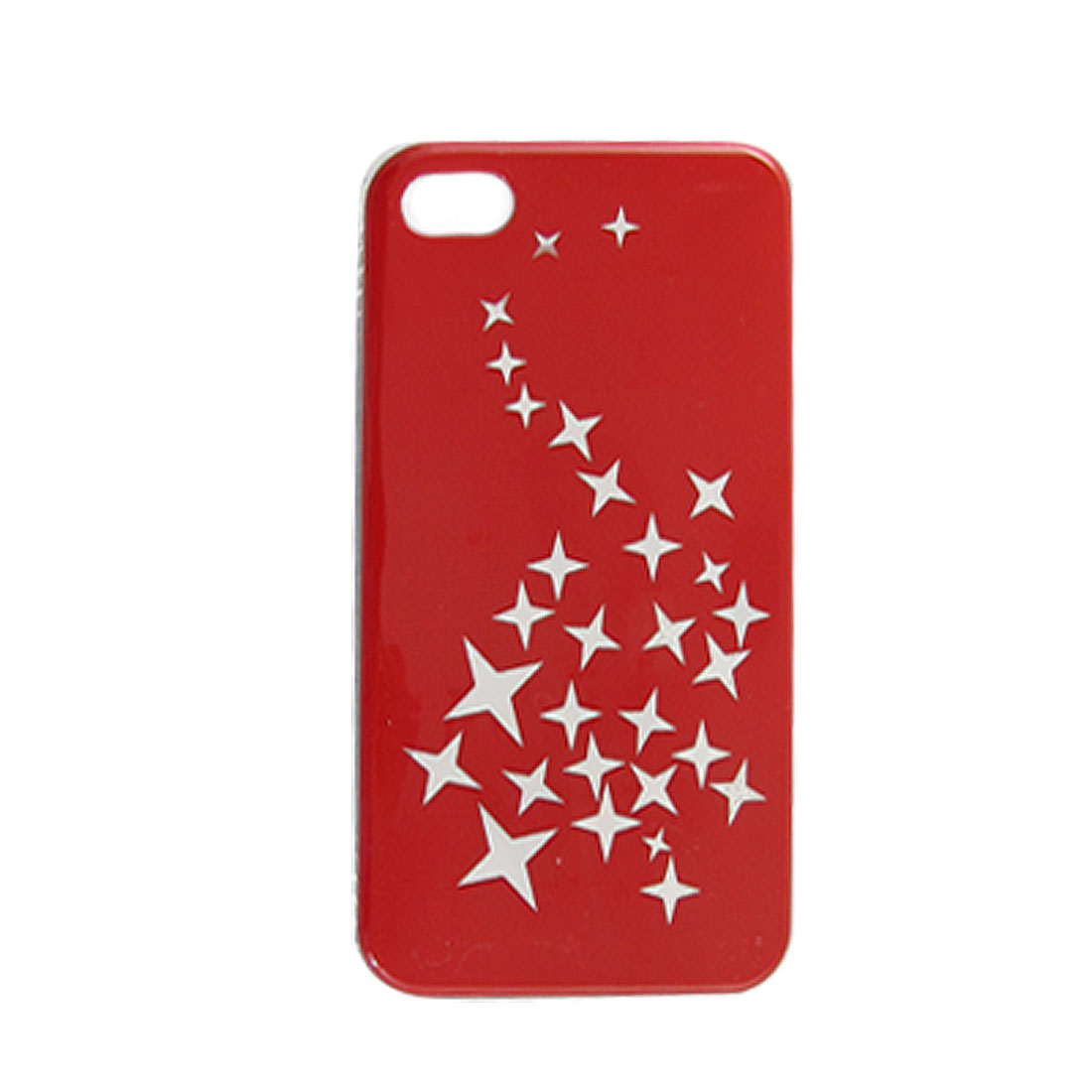 Unique Bargains IMD Stars Pattern Nonslip Side Back Case Protector for iPhone 4 4G 4S