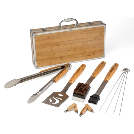 Cuisinart® 13-Piece Bamboo BBQ Tool Set - Tools Are Crafted From Durable Steel And Set In Bamboo Handles
