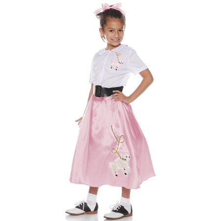 Pretty Pink Poodle Skirt Set Child Costume](Poodle Skirt Kids)