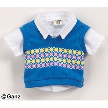 clothing - smart sweater vest webkinz clothing - smart sweater vest