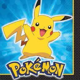 Pokemon Pikachu & Friends Beverage Napkins 16ct by Pokemon Party Supplies By