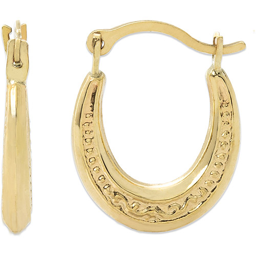 Girls' 14kt Yellow Gold Oval Hoop Earrings