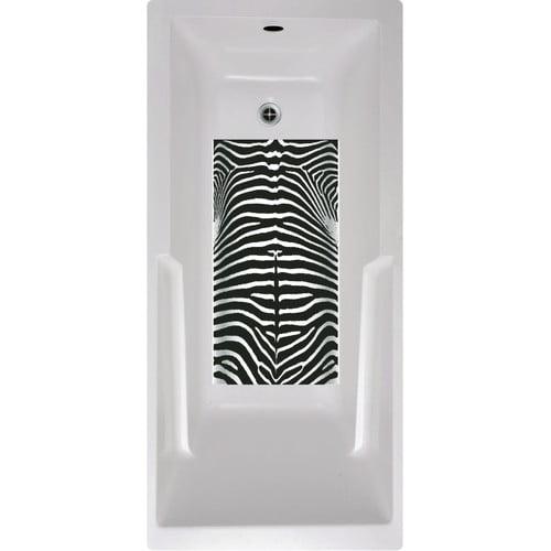 No Slip Mat by Versatraction Zebra Bath Tub and Shower Mat