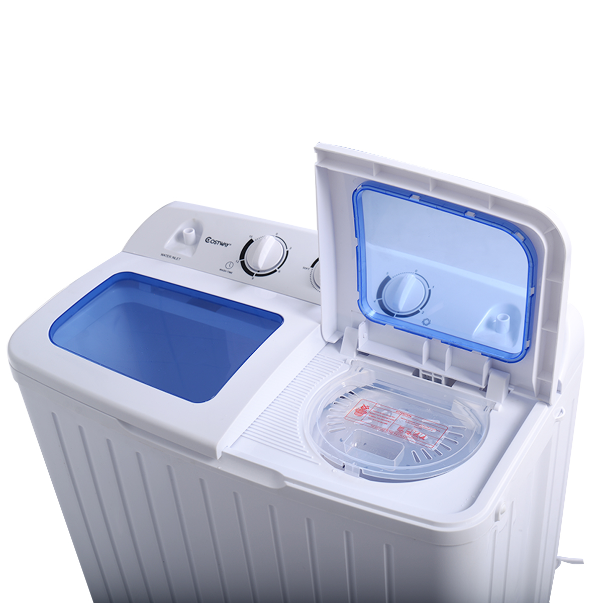 Costway Portable Mini Compact Twin Tub 17.6lb Washing Machine Washer Spin  Dryer   Walmart.com