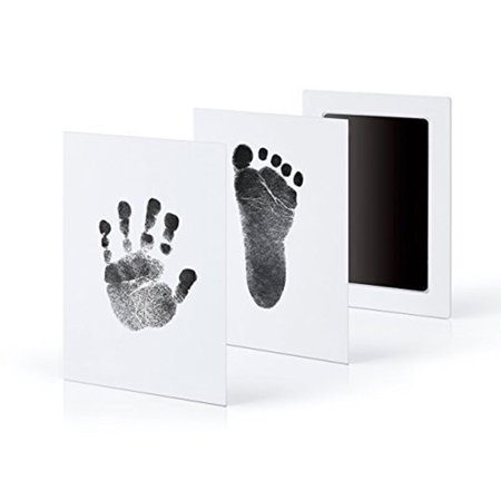 Newborn Baby Handprint Footprint Ink Pad Non-Toxic Clean Touch Ink Pad Photo Safe Print Kit for Baby (Black)