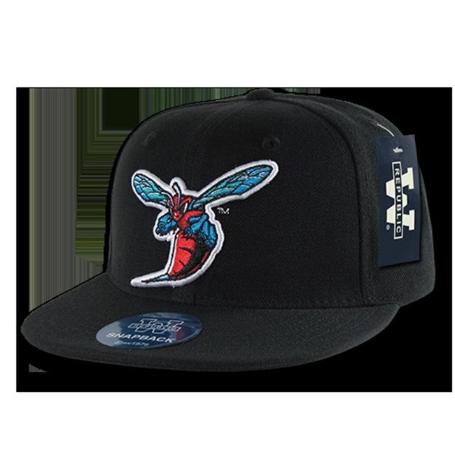 W Republic College Snapback Delaware State University, Black