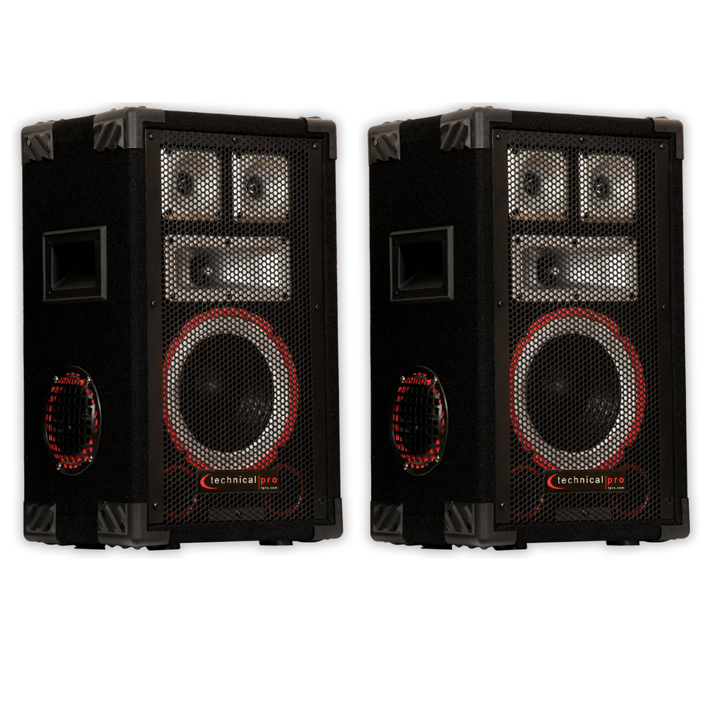 TECHNICAL PRO VMPR8 Passive Speaker Pair 1400 Watts PA DJ...