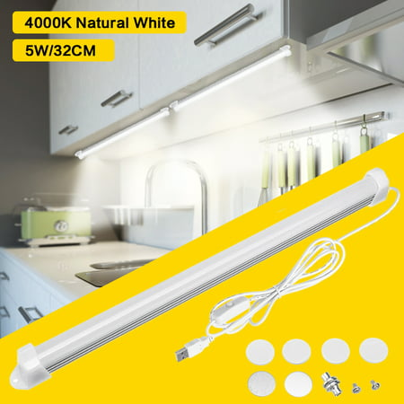 Under Cabinet Light, 20-LED Closet Light Motion Sensor Night Light Bar for Closet/Drawer/Cupboard/Pantry Stair, USB Operated