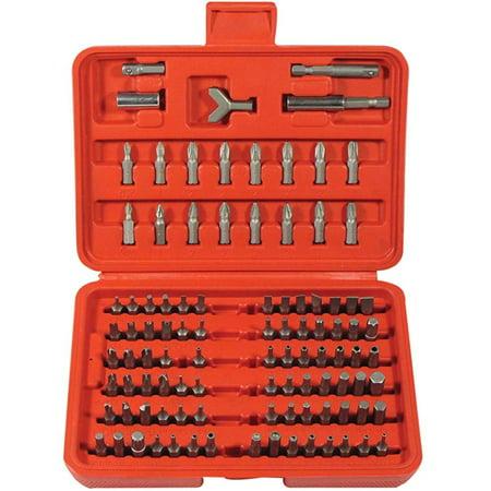 100 Pc Security Bit Screwdriver Set Torx Hex Key Torq Kit Slotted Tri Wing Tool