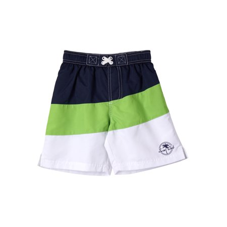Color Block Swim Trunk (Little Boys) (Boys Swim Trunks Size 7)