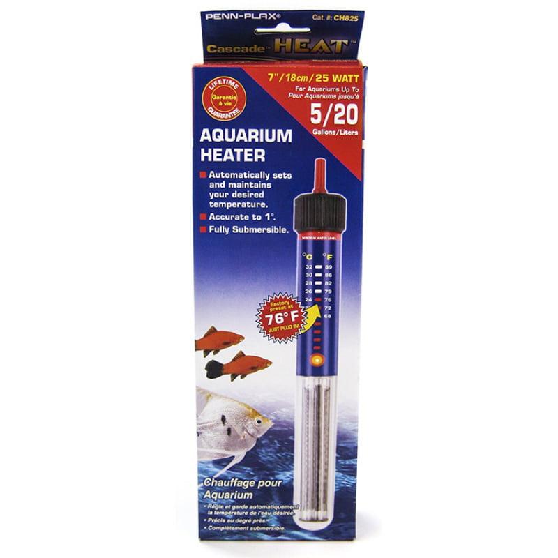 "Cascade Submersible Aquarium Heater 25 Watt - 7\"" - (Up to 5 Gallon)"