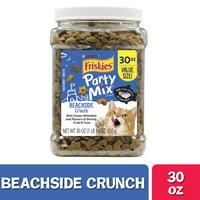Friskies Cat Treats, Party Mix Beachside Crunch, 30 oz. Canister