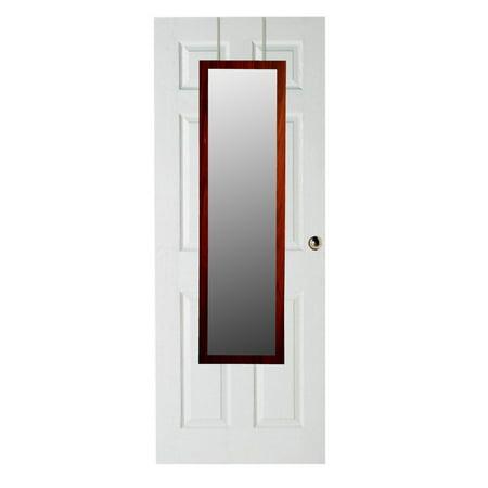 Home Basics over The Door Mirror, Mahogany C2500 Door Mirror
