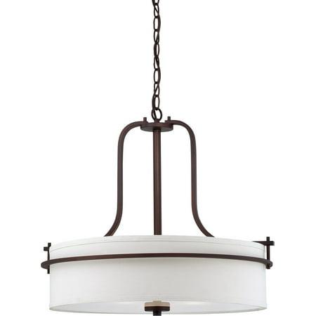 Pendants 3 Light With Venetian Bronze Finish Metal Medium Base 22 inch 180 Watts - Mwp Venetian Bronze Finish
