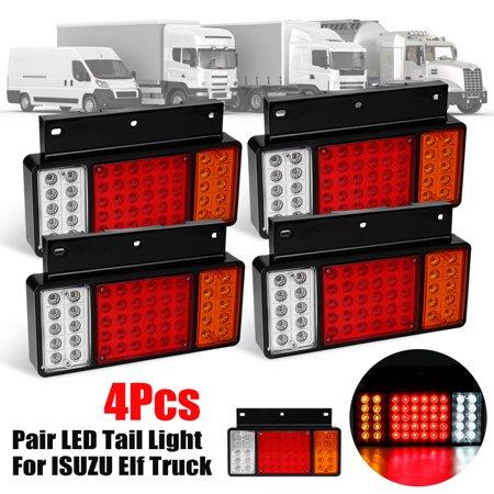 4Pcs Rear Left Right 50 LED Tail Light Lamps For ISUZU Elf Truck NPR NKR  NHR 1984-2018 2019 #JHGAI-F04