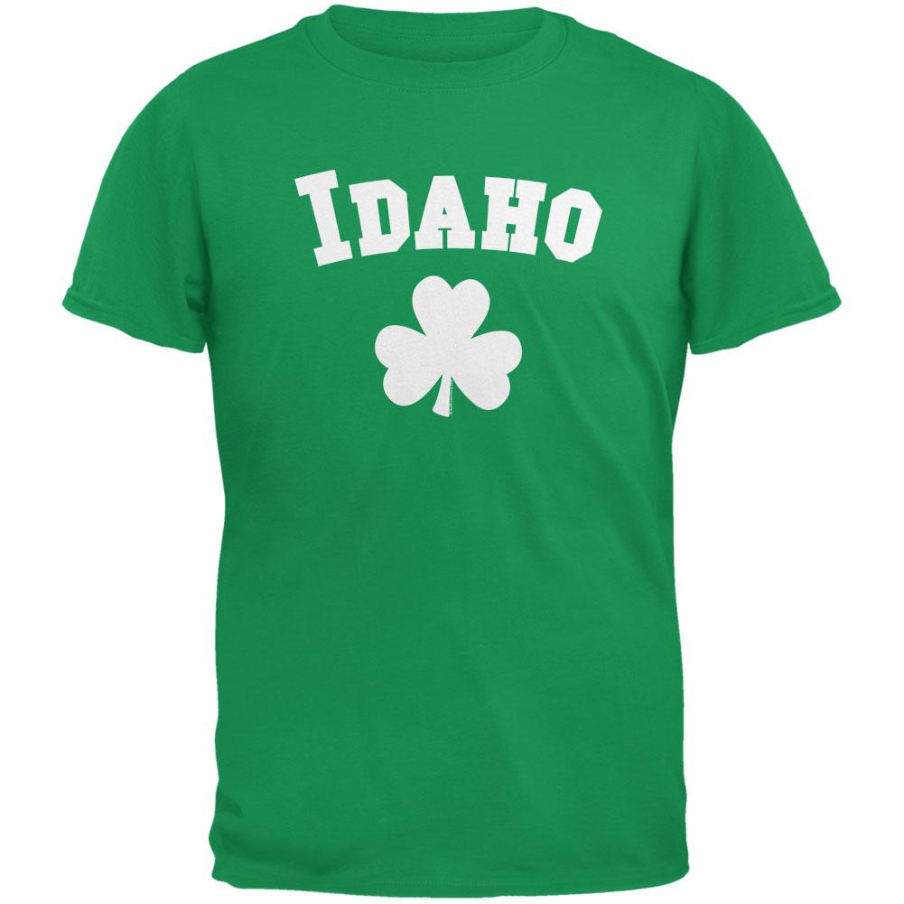 St. Patrick's Day - Idaho Shamrock Irish Green Adult T-Shirt