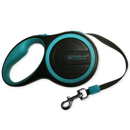FurHaven Pet Dog Leash | Comfort Grip Retractable Leash, Lagoon Blue,