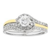 Sofia  14k Yellow Gold 1-ct TDW H-I,I1 IGL Certified Round-cut Bridal Set