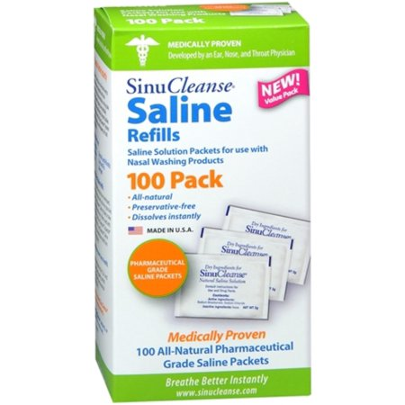 SinuCleanse Saline Refills 100 Each (Pack of 3) ()