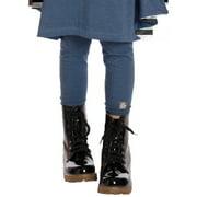 Little Girls Blueberry Jersey Designer Leggings 2-6