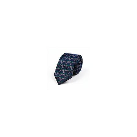 Pattern Polyester Ties (Necktie Polyester Tie Neckties Christmas Ties for Men Neck Tie, Blue stick Pattern )