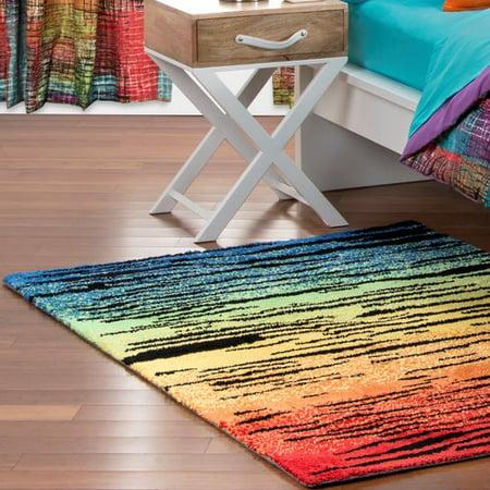 crayola color drip black area rug. Black Bedroom Furniture Sets. Home Design Ideas