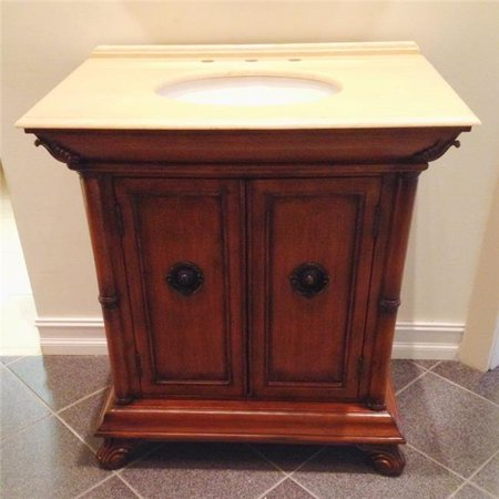 B & I Direct Imports B40842 32 in. Rose Single Bathroom Vanity Set - Import Direct
