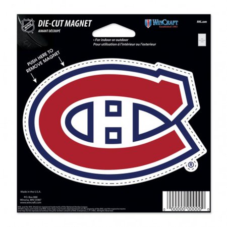 Montreal Canadiens Official Nhl 4 5 Inch X 6 Inch  Car Magnet By Wincraft