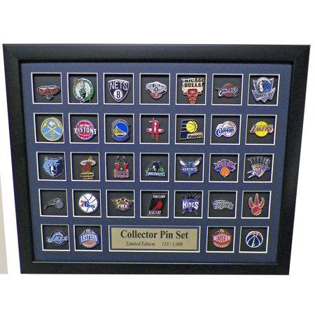 NBA Team Logo Collector Framed Pin Set - Limited Edition (Limited Edition Collectors Set)