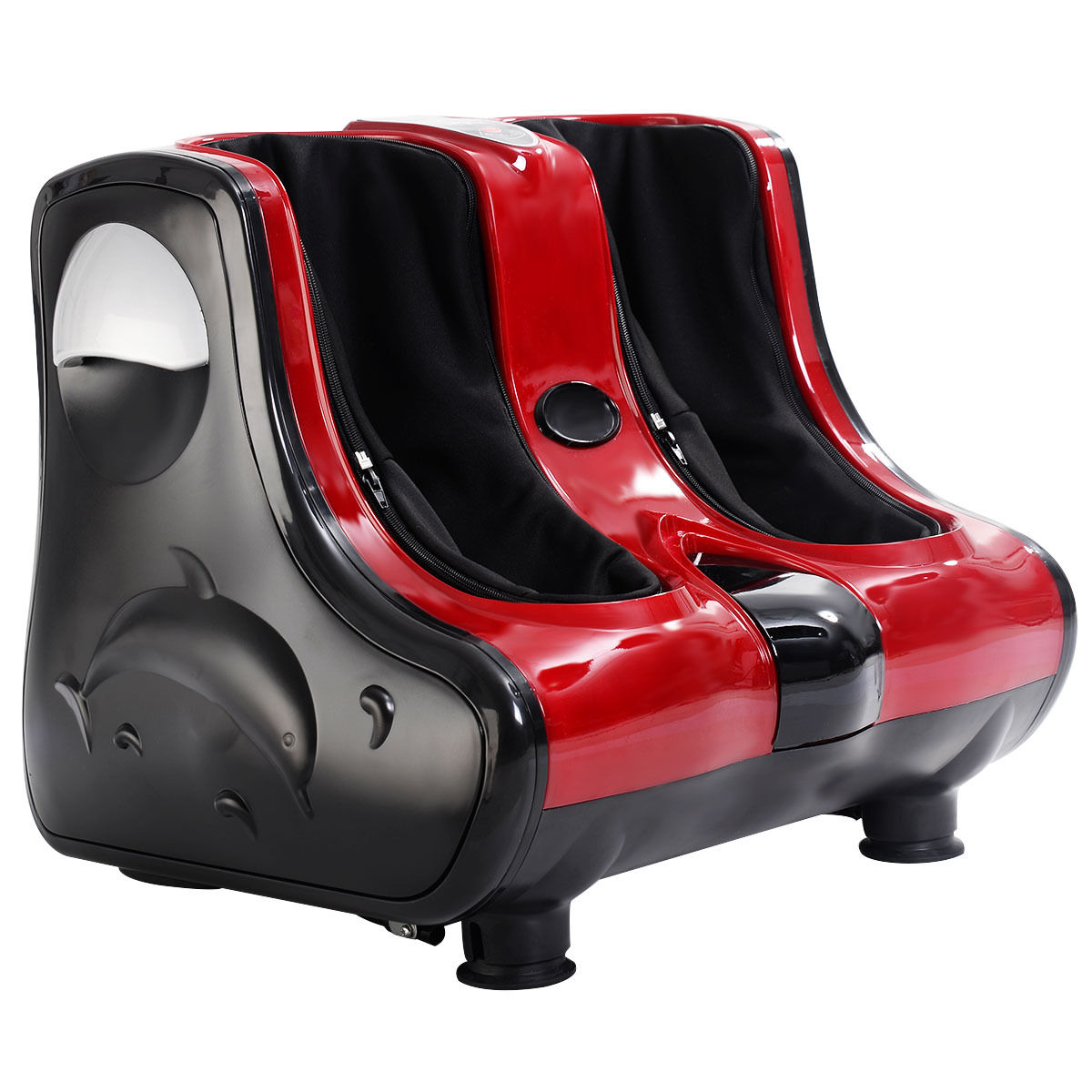 Costway Shiatsu Kneading Rolling Vibration Heating Foot Calf Leg Massager