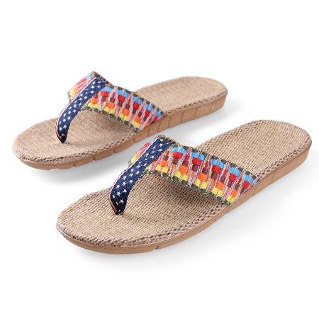 Straw Flop Thong Flip Comfort Women's Aerusi Starry Outdoor hdxBtsrCoQ