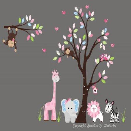 Baby Nursery Wall Decals Safari Jungle Children's Themed 85