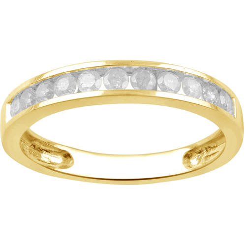 1 2 Carat T.W. Round Diamond 10kt Yellow Gold 11-Stone Wedding Band, I-J I2-I3 by Generic