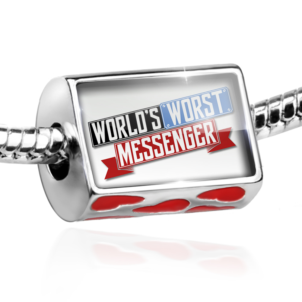 Bead Funny Worlds worst Messenger Charm Fits All European Bracelets