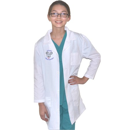 Kids Veterinarian Lab Coat with Dog by My Little Doc, Size 12/14 - Child Veterinarian Costume