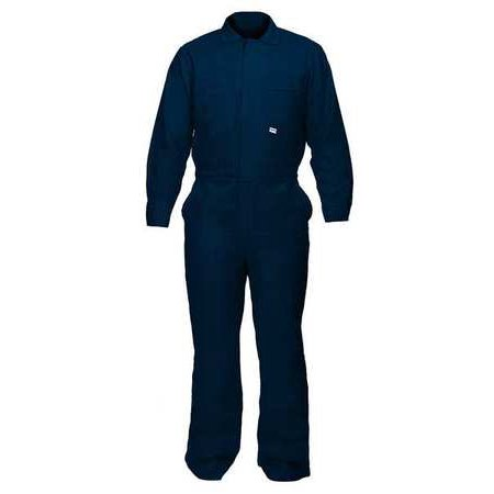 CHICAGO PROTECTIVE APPAREL Flame-Resistant Coverall,Navy Blue,4XL 605-IND-N- 4XL