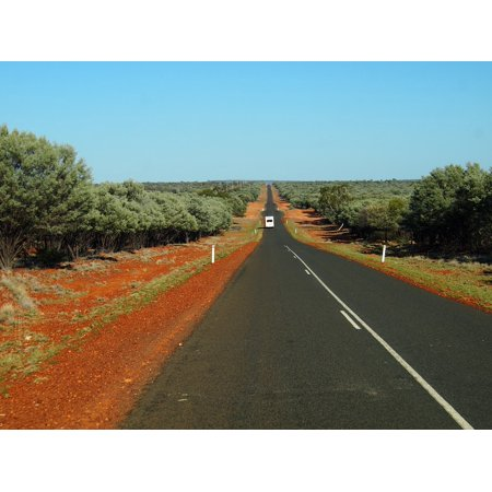 LAMINATED POSTER Desert Deserted Road Ahead Outback Red Dirt Road Poster Print 24 x 36