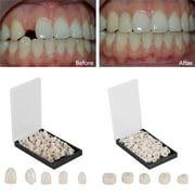 Temporary Dental Crown,50Pcs/Box Dental Front Teeth Temporary Realistic Oral Care Resin Crown Anterior Teeth