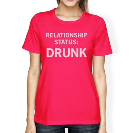 Relationship Status Hot Pink Shirt Funny Design Cute Letter