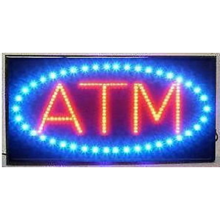 - LED Neon Light ATM Sign With Animation On/off and Power On/Off two Switchs for Business B86