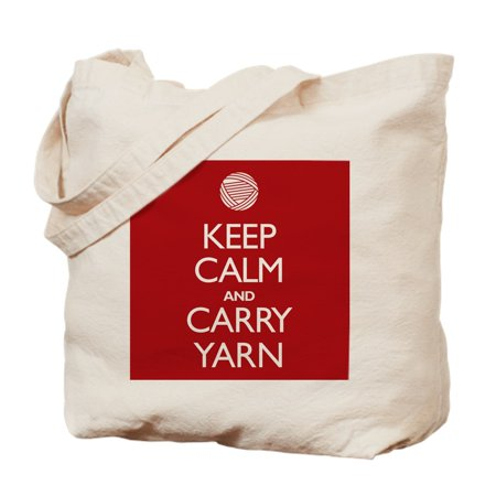 d521fd44c060 CafePress - CafePress - Red Keep Calm And Carry Yarn - Natural Canvas Tote  Bag