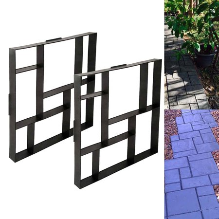 YOSOO Stone Mold Walk Maker, Pathmate Stone Mold Paving Pavement Concrete Mould Stepping Stone Paver Walk Way DIY Personalized Manual Pathmate Stone Mould(square 8grid) ()