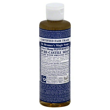 Dr  Bronner's 18-In-1 Hemp Peppermint Pure-Castile Soap, 8 0 FL OZ