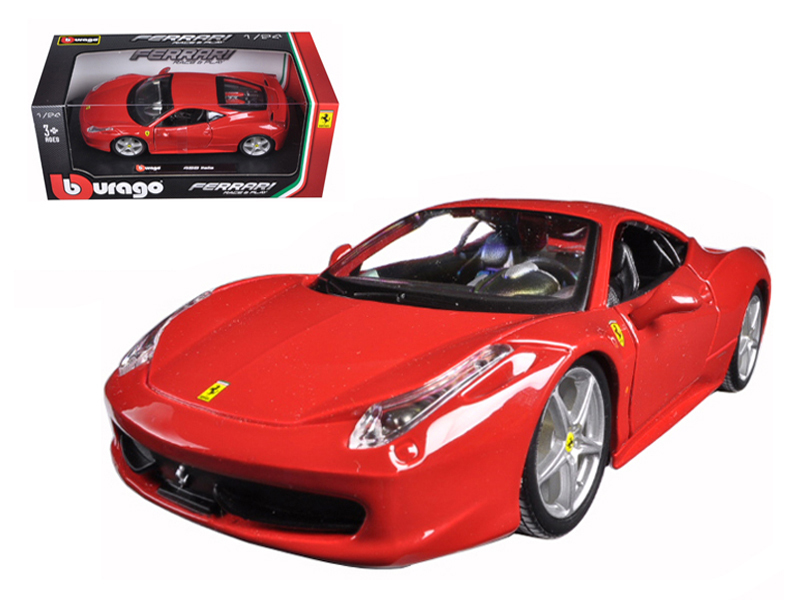 Ferrari 458 Italia Red 1 24 Diecast Model Car by Bburago by Bburago