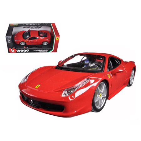 Ferrari 458 Italia Red 1/24 Diecast Model Car by Bburago (Ferrari Collectible Car)