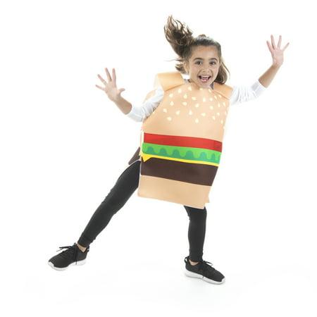 Worm Burgers Halloween (Hauntlook Cheesy Burger Halloween Children's Costume - Funny Food Suits for)