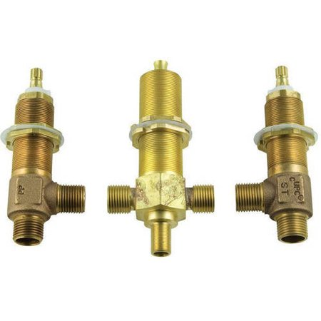 "Pfister 1/2"" Rough-In Valve for Double Handle Roman Tub Faucets with Handshower (Variable Spread)"