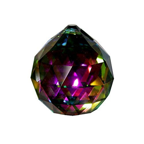 Large Faceted Ball 50mm Crystal Ball Feng Shui Party Decor (Colors Available)
