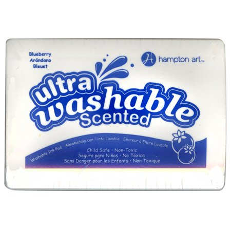 Washable Ink Pads (Hampton Art Ultra Washable Scented Blueberry Blue Stamp)