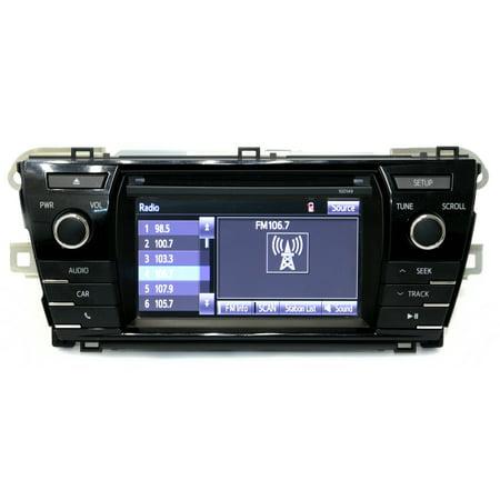 2014-2016 Toyota Corolla AM FM Radio Display CD Player - 86140-02050 Face 100149 - (2014 Toyota Corolla Radio Display Not Working)